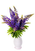 Beau bouquet de lupin dans un vase — Photo