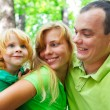 Stock Photo: Portrait of funny family having fun