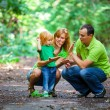 Portrait of Happy Family In Park — Foto de Stock