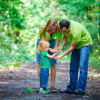 Portrait of Happy Family In Park — Foto Stock