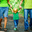 Portrait of Happy Family In Park — Stock Photo #13119572