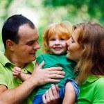 Portrait of Happy Family In Park — Stock Photo