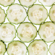 Stock Photo: Sliced cucumber isolated on a white background