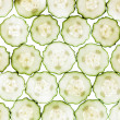 Sliced cucumber isolated on a white background — Stock Photo
