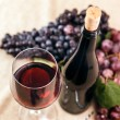 Bottle and glass of red wine — Stock Photo #14032463