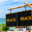 "Stock Photo: ""Beach"" sign - access to summer Beach"
