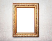 Golden frame on textured background — 图库照片