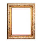 Golden frame isolated on white background — Stock Photo