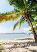 白い砂と完璧なタイのビーチ — ストック写真