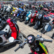Many motorbikes at the parking — Stock Photo #27169861