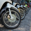 Many motorbikes at the parking — Stock Photo