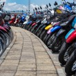 Many motorbikes at the parking — Stock Photo #27169969