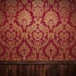 Red retro interior — Stock Photo