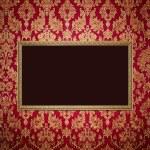 Red retro interior with empty exposition — Stock Photo
