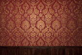 červené retro interiér — Stock fotografie