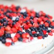 Tart with strawberries and blueberries — Stock Photo #27857677