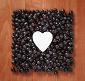 Colorful border frame made of berries — Stockfoto