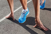 Closeup of runners shoe - running concept — Stock Photo