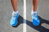 Closeup of runners shoe - running concept — Stockfoto