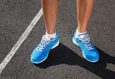 Closeup of runners shoe - running concept — Zdjęcie stockowe