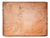 Old Wooden board isolated on white. — Stock Photo