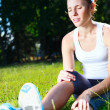 Knee injury for young athlete runner. — Stock Photo