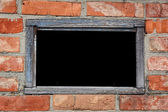 Old weathered window - frame for text. — Photo