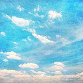 Clouds in summer blue sky - vintage edit. — Stock Photo