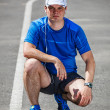 Young male runner getting ready to start. — Stock Photo