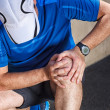 Male runner having problems in knee joint. — Stock Photo #47288797