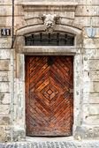 Old brown wooden door. — Stock Photo