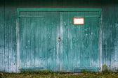 Old wooden barn door. — Stock Photo