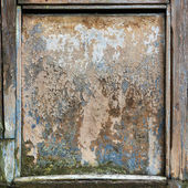 Closeup of wooden old dirty board frame. — Stockfoto