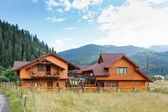 Hotel in Carpatian Mountains. Ukraine. — Stock Photo