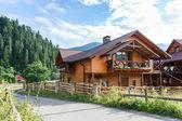 Hotel in Carpatian Mountains. Ukraine. — Stock Photo