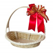 Basket with red ribbon — Stock Photo #18029751