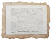 Hoja de papel viejo aislada en blanco — Foto de Stock