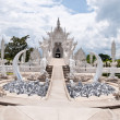 Stock Photo: Famous white temple in Wat Rong Khun