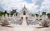Famous white temple in Wat Rong Khun — Stock Photo