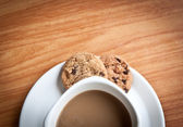 Coffee cup with cookie. — Stockfoto