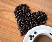 Concept of love with coffee beans. — Stock Photo