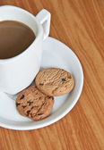 Coffee cup with cookie . — Stock Photo