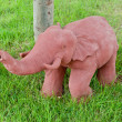 Stock Photo: Elephant clay dolls in the garden ,