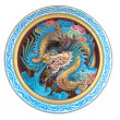Stock Photo: Ancient Chinese Dragon statue