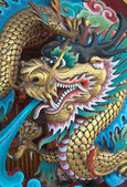 Ancient Chinese Dragon statue — Stock Photo