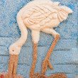Picture of egret made from rice seed. — Stock Photo
