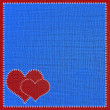 Heart sewing fabric. — Stock Photo