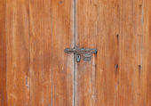 Closeup immagine dell'antica porta di legno — Foto Stock