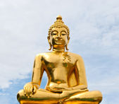 Golden Buddha on the sky. — Stock Photo