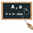 Stock Photo: Blackboard for abc alphabet learning.